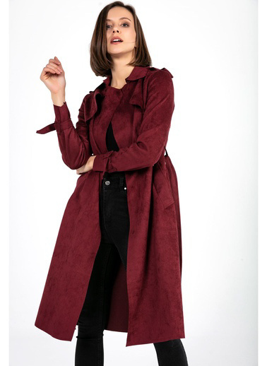 Tiffany&Tomato Trenchcoat Apoletli Bordo